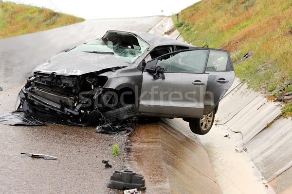 автомобилей аварии крушение современных автомобиль Сток-фото © fouroaks