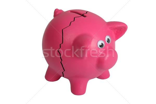 Törött persely rózsaszín szemek és törés Stock fotó © fouroaks