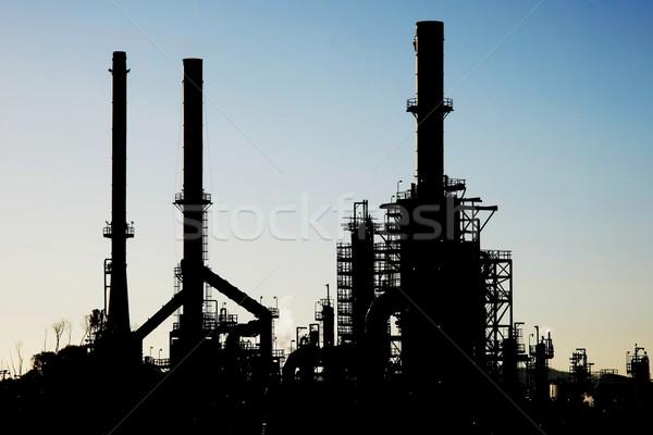 Silhouette tuyaux technologie métal industrie Photo stock © fouroaks