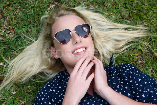 Beautiful Blond Woman with Sunglasses Stock photo © fouroaks
