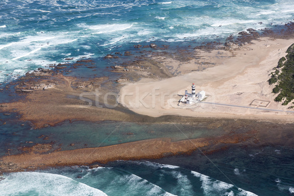 Kustlijn vuurtoren South Africa luchtfoto strand haven Stockfoto © fouroaks