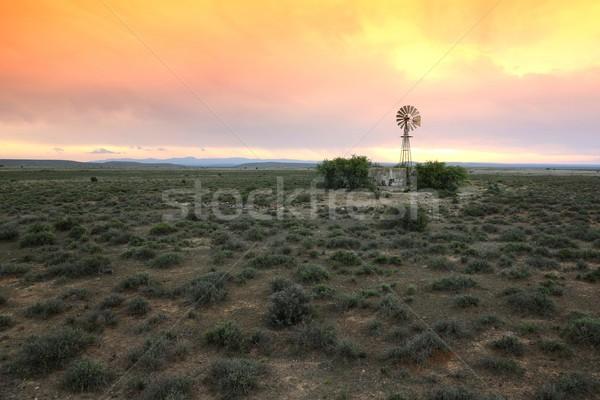 水 ポンプ 風車 広い オープン ストックフォト © fouroaks