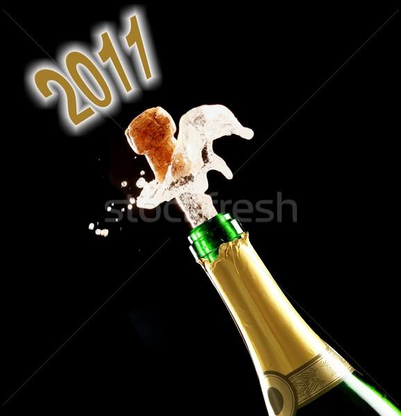 2011 celebração cortiça ano festa vinho Foto stock © fouroaks