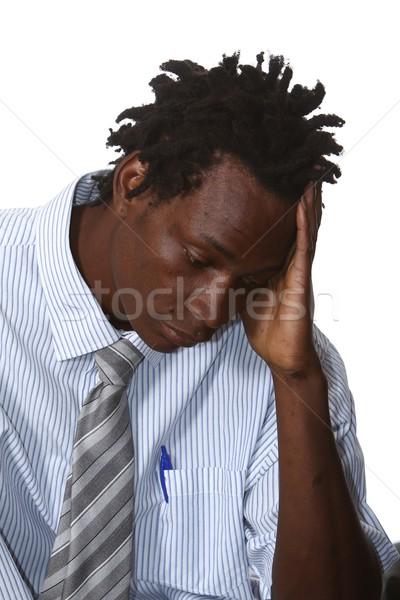 Worried African Businessman Stock photo © fouroaks
