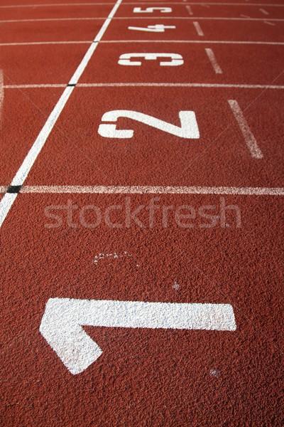 Brano corsia numeri texture sport eseguire Foto d'archivio © fouroaks