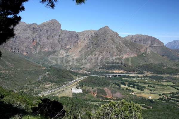 Highway - Western Cape, South Africa Stock photo © fouroaks