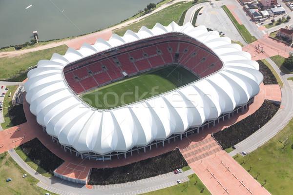 Vista fútbol estadio lago puerto Foto stock © fouroaks