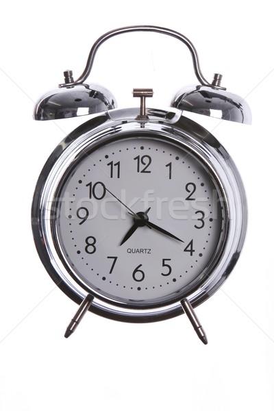 目覚まし時計 ヴィンテージ 古い スタイル 孤立した 白 ストックフォト © fouroaks