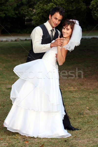 Dancing Wedding Couple Stock photo © fouroaks
