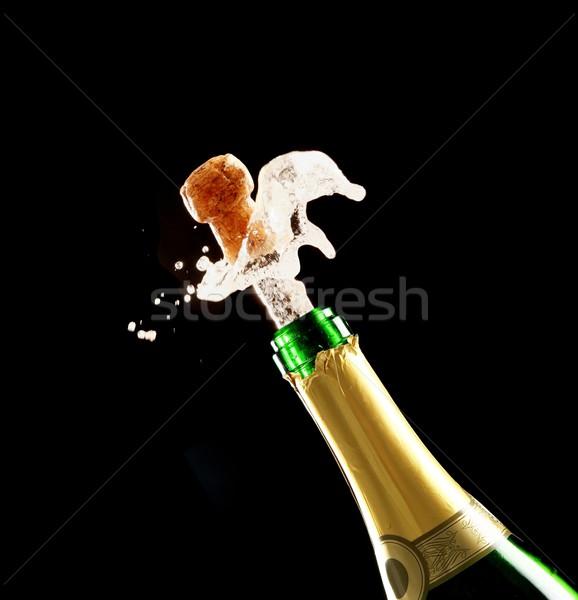 Champagne Cork and Bottle Stock photo © fouroaks
