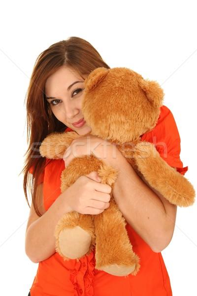 Gorgeous Woman with Toy Animal Stock photo © fouroaks