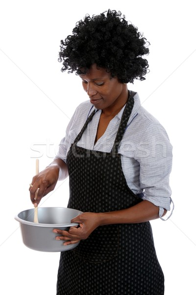 African Housewife Cooking Stock photo © fouroaks