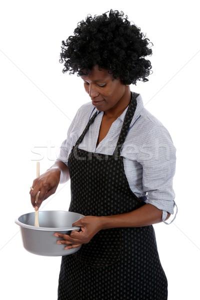 アフリカ 主婦 料理 女性 黒髪 ストックフォト © fouroaks