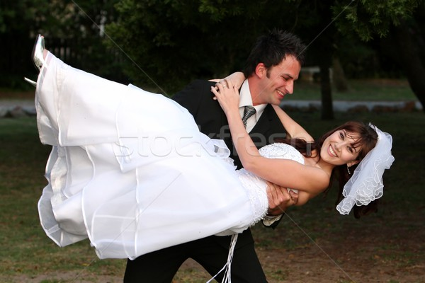 Stock photo: Wedding Couple Fun