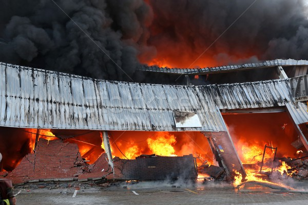 Fire Disaster in Warehouse Stock photo © fouroaks