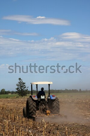 ストックフォト: ファーム · トラクター · 作業 · フィールド · 新しい