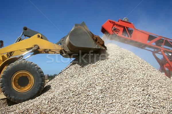Stone Pile and Machines Stock photo © fouroaks