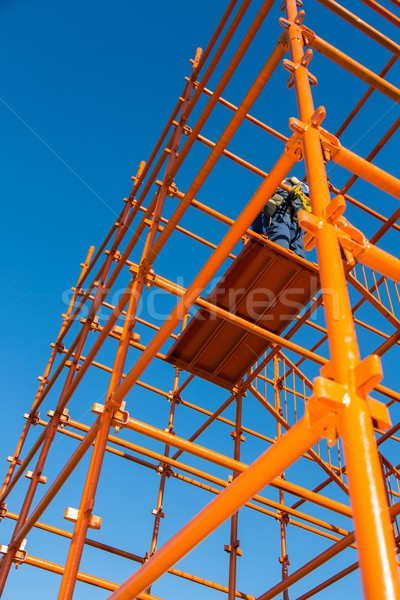 Scaffolding Pipes and Blue Sky Stock photo © fouroaks