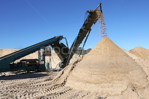 Sand Pile and Screening Machine Stock photo © fouroaks
