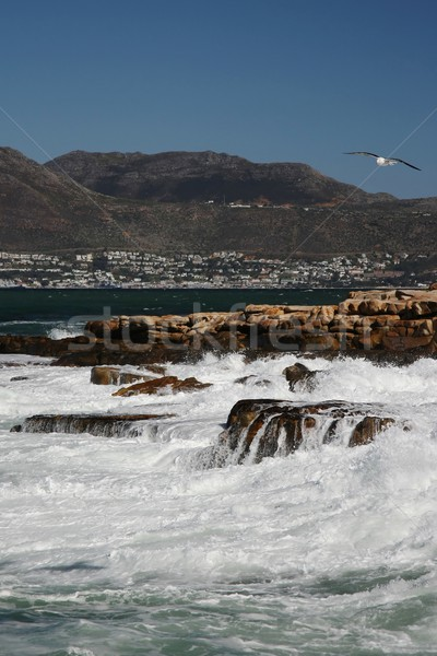 Rêche océan roches orageux mer vagues Photo stock © fouroaks