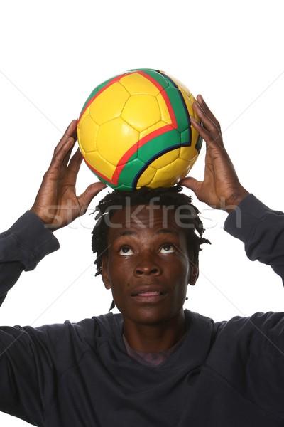 Black Football Supporter Stock photo © fouroaks