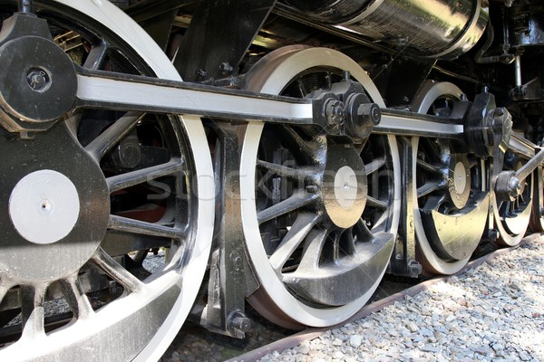 Vintage locomotiva rodas classe vapor motor Foto stock © fouroaks