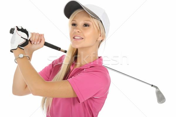 ブロンド ゴルフ 女性 かなり 小さな 女性 ストックフォト © fouroaks
