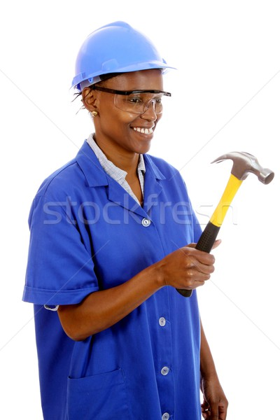 African Woman Carpenter Stock photo © fouroaks