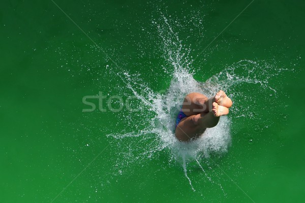Diving splash diver abstract sfondo Foto d'archivio © fouroaks