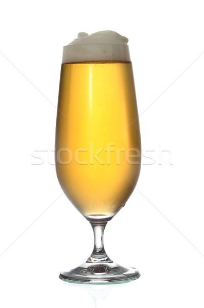 Bira alman birası yalıtılmış beyaz cam arka plan Stok fotoğraf © fouroaks
