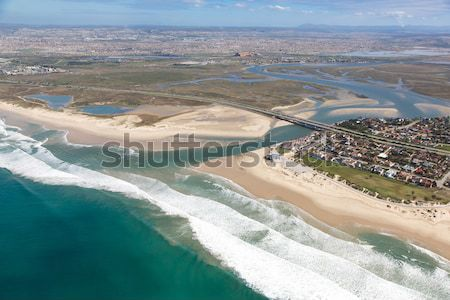River Mouth and Estuary from the Air Stock photo © fouroaks