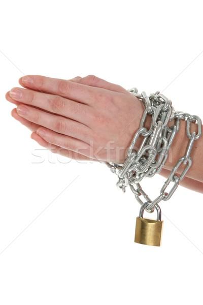 Hands, Chain and Lock Stock photo © fouroaks