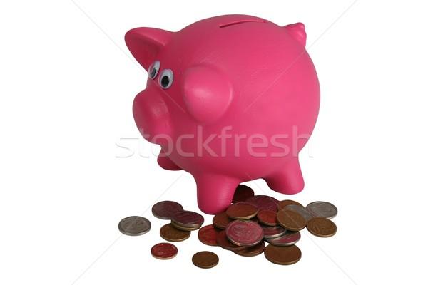 Piggy Bank and Coins Stock photo © fouroaks