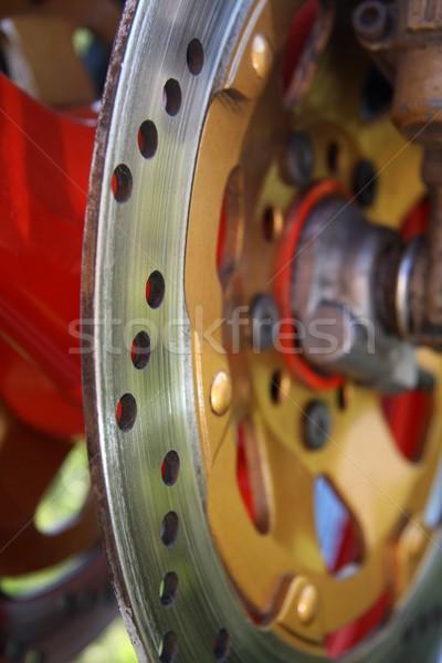 Disco abstract view grande moto Foto d'archivio © fouroaks
