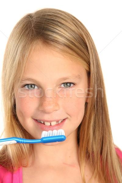 かなり 子供 若い女の子 ブラシ 歯 ストックフォト © fouroaks