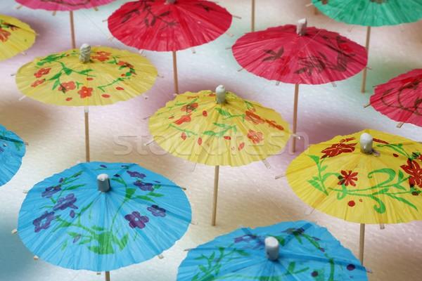 カクテル 傘 パターン 傘 異なる 色 ストックフォト © fouroaks