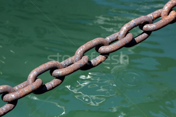 Rusted Steel Chain Stock photo © fouroaks