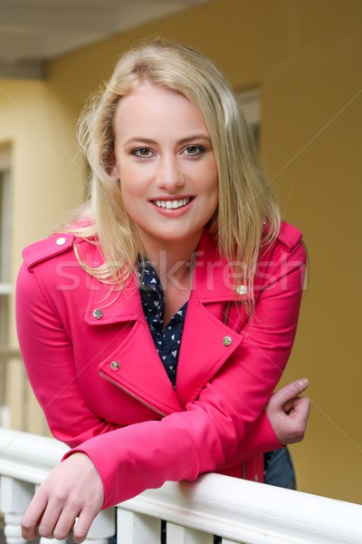 Pretty Blond Girl on Veranda Stock photo © fouroaks