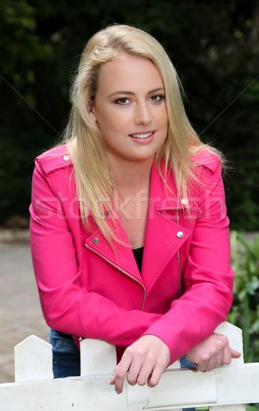 Hermosa rubio retrato bastante jóvenes Foto stock © fouroaks