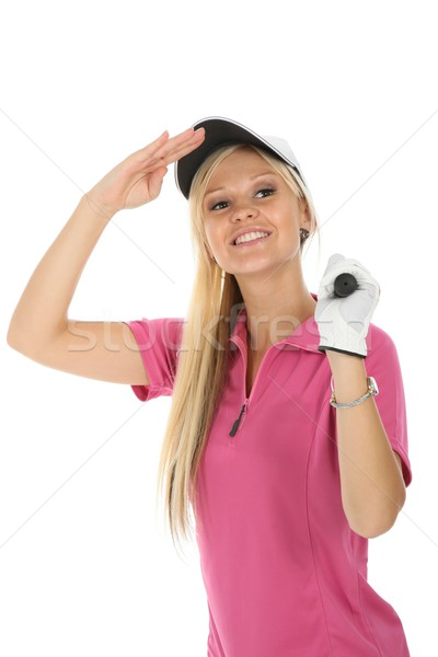 Beautiful Blonde Golfer Stock photo © fouroaks
