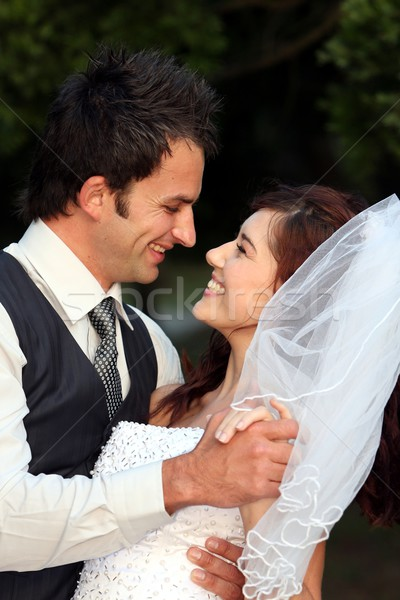 Happy Wedding Couple Stock photo © fouroaks