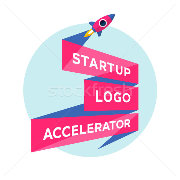 Stock photo: Concept design for start up project with inscription Startup Logo Accelerator