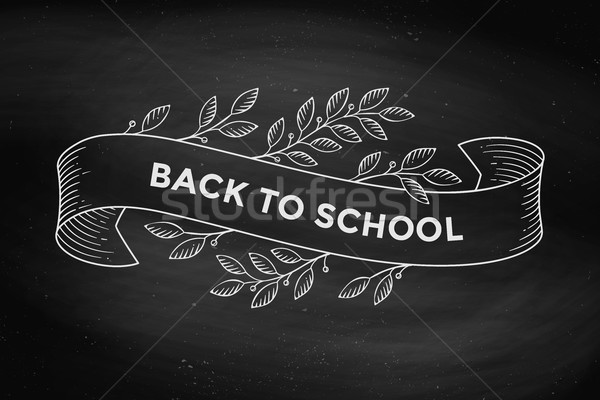 Greeting card with inscription Back to School Stock photo © FoxysGraphic