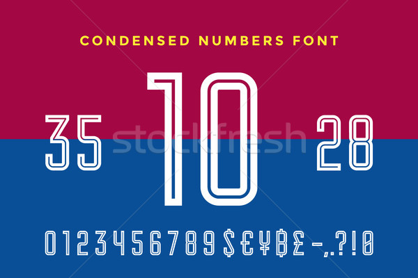 Numeric and symbol font. Sport font with Numeric, Numbers Stock photo © FoxysGraphic