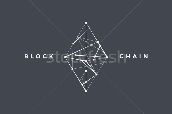 Template logo for blockchain technology Stock photo © FoxysGraphic