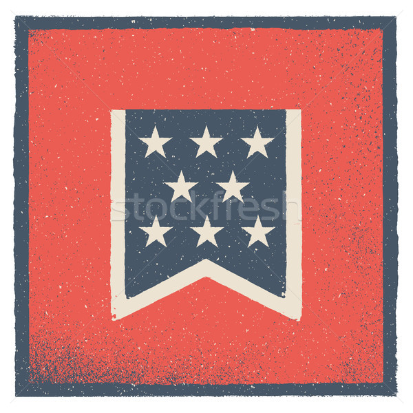 Pennant. Design element for Independence Day in USA. Vector illustration. Stock photo © FoxysGraphic