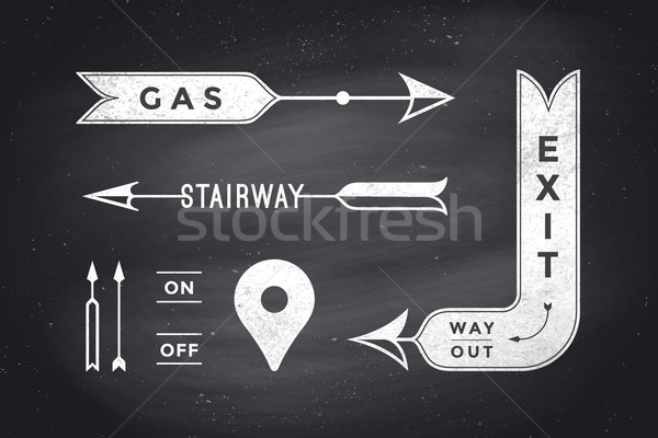 Set of vintage arrows and banners Stock photo © FoxysGraphic