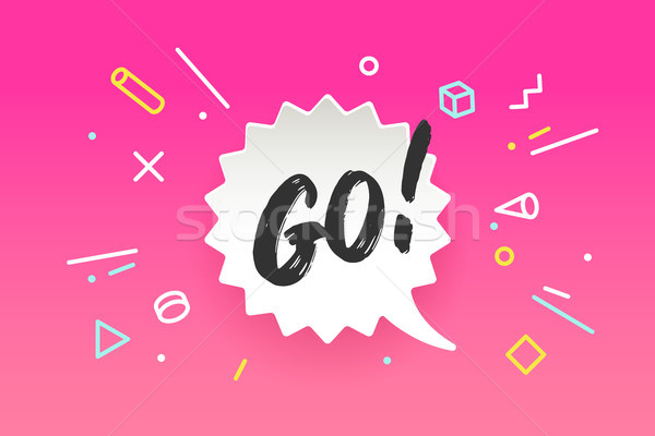 Banner Go in geometric style Stock photo © FoxysGraphic