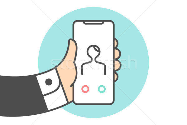 Icon of Smartphone with Incoming call Stock photo © FoxysGraphic