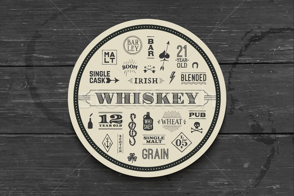 Coaster for whiskey and alcoholic beverages Stock photo © FoxysGraphic